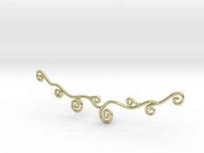 Curly Necklace in 18K Gold Plated