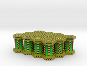 Game Piece, Power Grid, Uranium Canister Type 2 x1 in Full Color Sandstone