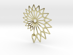 Spiral Flower in 18K Gold Plated