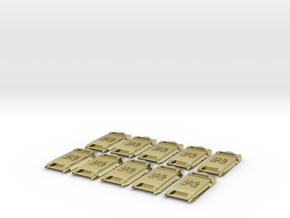 Legion Breacher Shields  in 18K Gold Plated