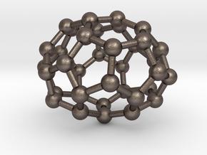 0033 Fullerene c36-05 d2 in Polished Bronzed Silver Steel