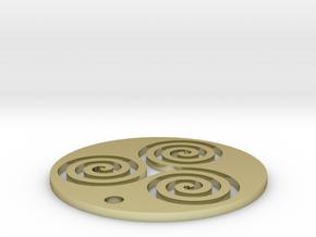 "Triskele (1.25"" diameter) in 18K Gold Plated"