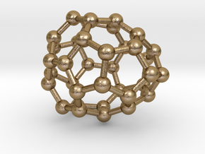 0034 Fullerene c36-06 d2d in Polished Gold Steel