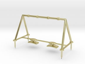 Children's Swings, HO Scale (1:87) in 18K Gold Plated
