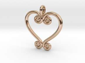Swirling Love in 14k Rose Gold