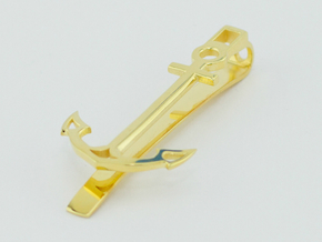 Anchor Tie Clip in 14k Gold Plated Brass