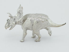 Kosmoceratops 1/72 Krentz in Rhodium Plated Brass