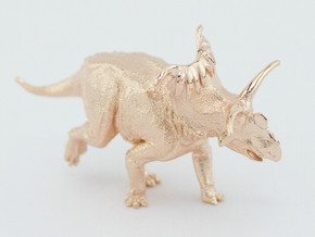 Kosmoceratops 1/72 Krentz in 14k Rose Gold Plated Brass