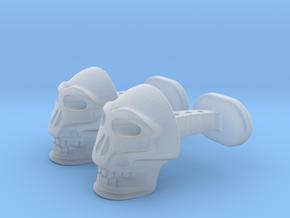 Skull Cufflinks in Smooth Fine Detail Plastic