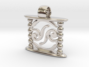 Aeon Tribe Temple Version in Rhodium Plated Brass