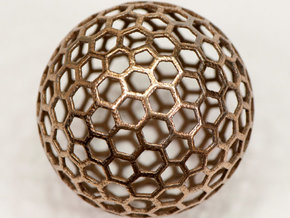 honeycomb sphere - 60 mm in Stainless Steel