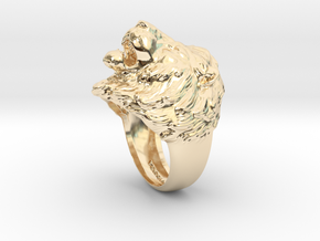 Lion Ring in 14k Gold Plated Brass: 11.5 / 65.25