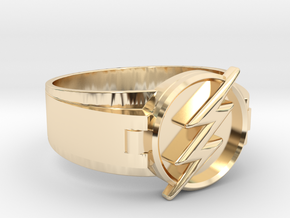 Flash Ring size 10 20mm  in 14k Gold Plated Brass