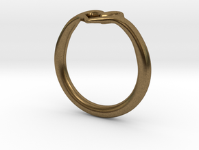 Heart Ring in Natural Bronze