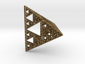 Sierpinski Pyramid; 4th Iteration in Natural Bronze