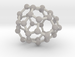 0034 Fullerene c36-06 d2d in Full Color Sandstone