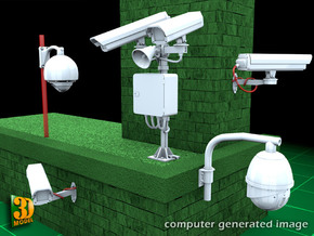 Surveillance Cameras (1:35) in Smooth Fine Detail Plastic