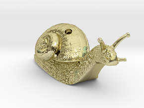 Descending Snail Pendant, part 1 in 18K Gold Plated