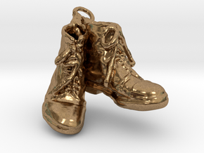 Two Boots in Natural Brass