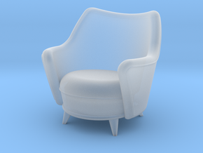 1:48 Moderne Tub Armchair in Frosted Ultra Detail