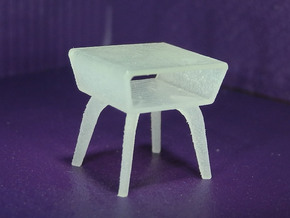 1:48 Moderne Angled Side Table in Smooth Fine Detail Plastic