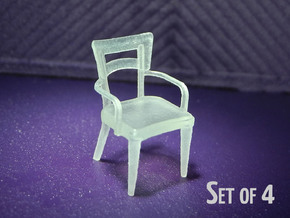 1:48 Dog Bone Chair, with Arms in Smooth Fine Detail Plastic