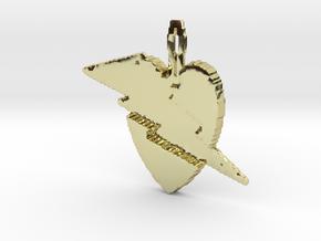 Lightening heart pendant in 18K Gold Plated