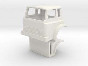 1/64 scale IH Cargostar Cab with Interior model in White Natural Versatile Plastic