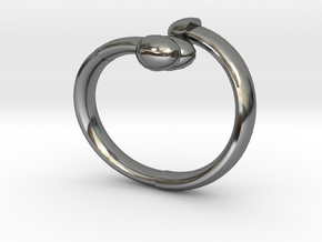 The D Ring - Sz.7 in Fine Detail Polished Silver