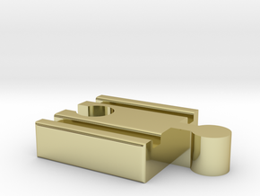 Lillabo F-Brio M Connector 40mm With Marking in 18K Gold Plated