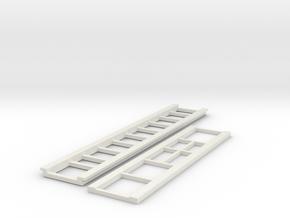 Rio bridge/trailer top and bottom sections in White Natural Versatile Plastic