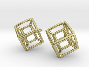 Tesseract Ears in 18K Gold Plated