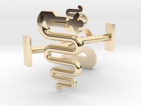 Milano (biscione) cufflinks in 14k Gold Plated Brass