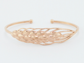 Wheat Bracelet all sizes in 14k Rose Gold Plated Brass: Small