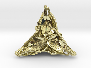 Botanical d4 Ornament in 18K Gold Plated