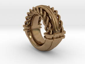 Rope Ring Print in Natural Brass