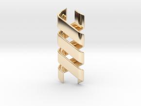 Helix Pendant & Bracelet in 14k Gold Plated Brass