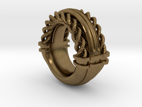Rope Ring Print in Natural Bronze