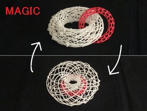 Torus Magic with Ring 1 in White Natural Versatile Plastic