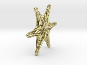 Hexagonal star - 33mm in 18K Gold Plated