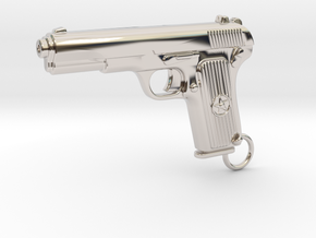 Tokarev Gun in Rhodium Plated Brass