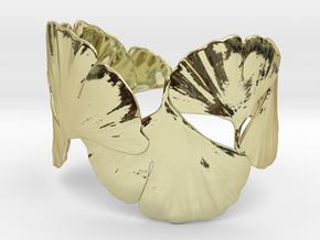 Ginko Bracelet 18cm (large) in 18K Gold Plated