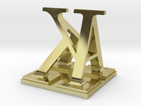 Two way letter / initial A&K in 18K Gold Plated