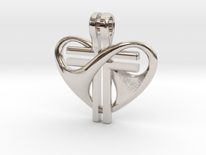Love and Sacrifice - SMALL in Rhodium Plated Brass