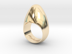 Egg Ring Size 7 in 14k Gold Plated