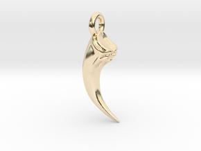 Talon Earing/Pendant in 14k Gold Plated Brass