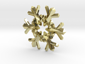 Snow Flake 6 Points F - 4cm in 18K Gold Plated