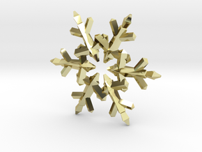 Snow Flake 6 Points C - 5cm in 18K Gold Plated