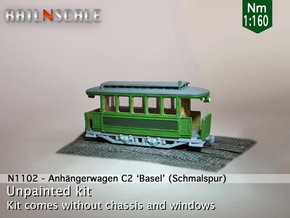 Anhängerwagen C2 (Nm 1:160) in Frosted Ultra Detail