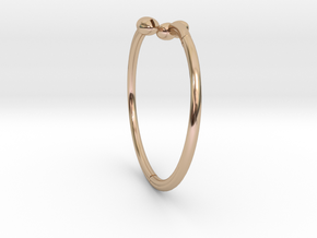 The D Wrap Bracelet - Small in 14k Rose Gold Plated Brass